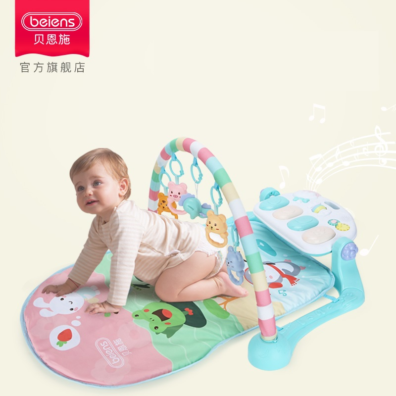 Beiens Baby Play Mat Educational Baby Gym 3 In 1 Bay Carpet Toy With Piano Keyboard Rug Crawling Activity Mat Toys