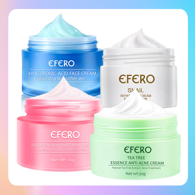 EFERO Whitening Face Cream Remove Freckle Cream Melasma Acne Spots Melanin Whitening Moisturizing Skin Brighten Face Day Cream
