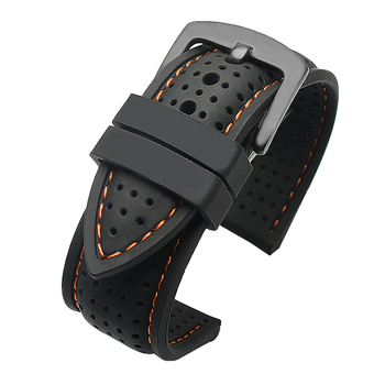 New Breathable Silicone Sports Band for huawei Samsung watchband 20mm 22mm rubber strap for Mido- T-issot O-mega Accessories