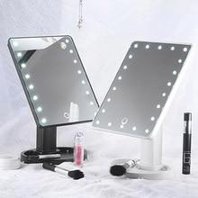 Mioor, регулируемое, 20/16 светодиодов, освещенное зеркало для макияжа, с сенсорным экраном, портативное, увеличительное, настольная лампа, косметическое зеркало для макияжа