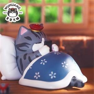 Image 2 - 5/8 Pcs/ชุดน่ารักEmperor Mini Dog Cat Action Figure Toyขี้เกียจแมวPug Dogสัตว์ตุ๊กตารูปคอลเลกชันเด็กวันเกิดของขวัญ