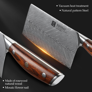 Image 4 - XINZUO 7 Cleaver Knife 67 layers Damascus Steel Kitchen Knives New Arrival Slicing Knife with Good Quality Rose wood Handle
