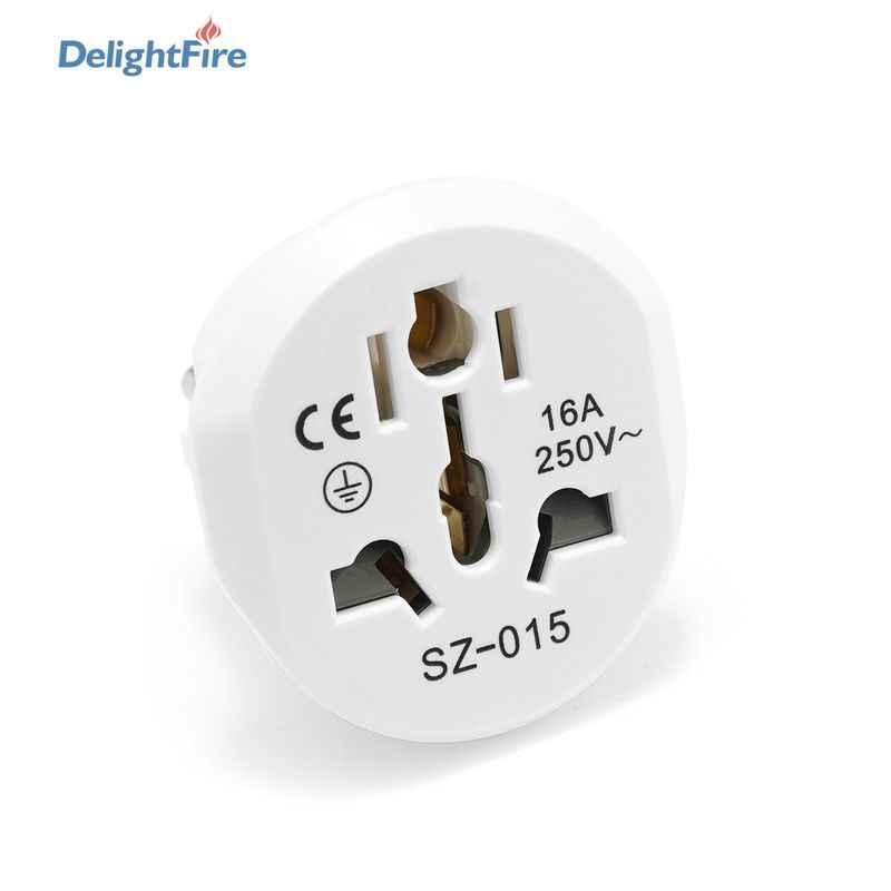 EU дорожный адаптер, высококачественный штепсельный адаптер, универсальный 16A 250V EU конвертер, 2 круглых разъема AU US UK CN To EU настенная розетка переменного тока