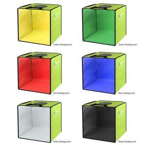 Image 3 - Puluz 30Cm Opvouwbare Draagbare Ring Light Photo Verlichting Studio + Ring Led Panel Truntable, tafelblad Schieten Tent Box Kit 6 Achtergronden
