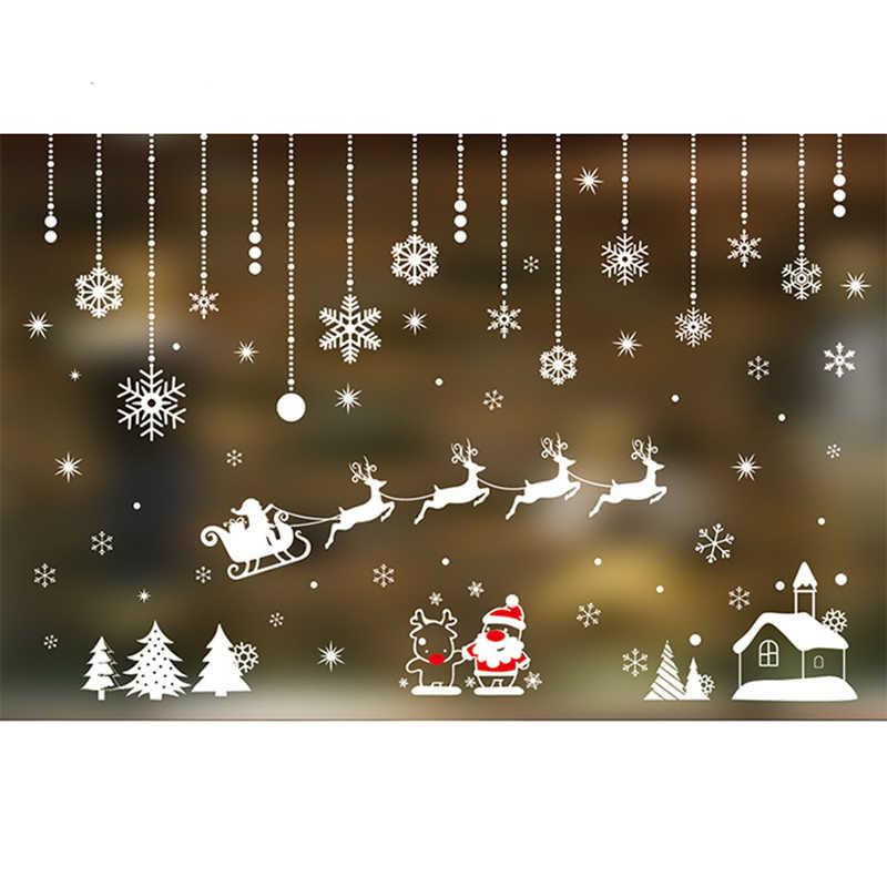 Happy Merry Christmas Eve 2020 Merry Christmas Eve Snowflake Electrostatic Window Sticker Winter