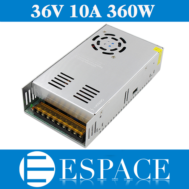 Best quality  36V 10A 360W Switching Power Supply Driver for CCTV camera  LED Strip AC 100 240V Input to DC 36V free shipping
