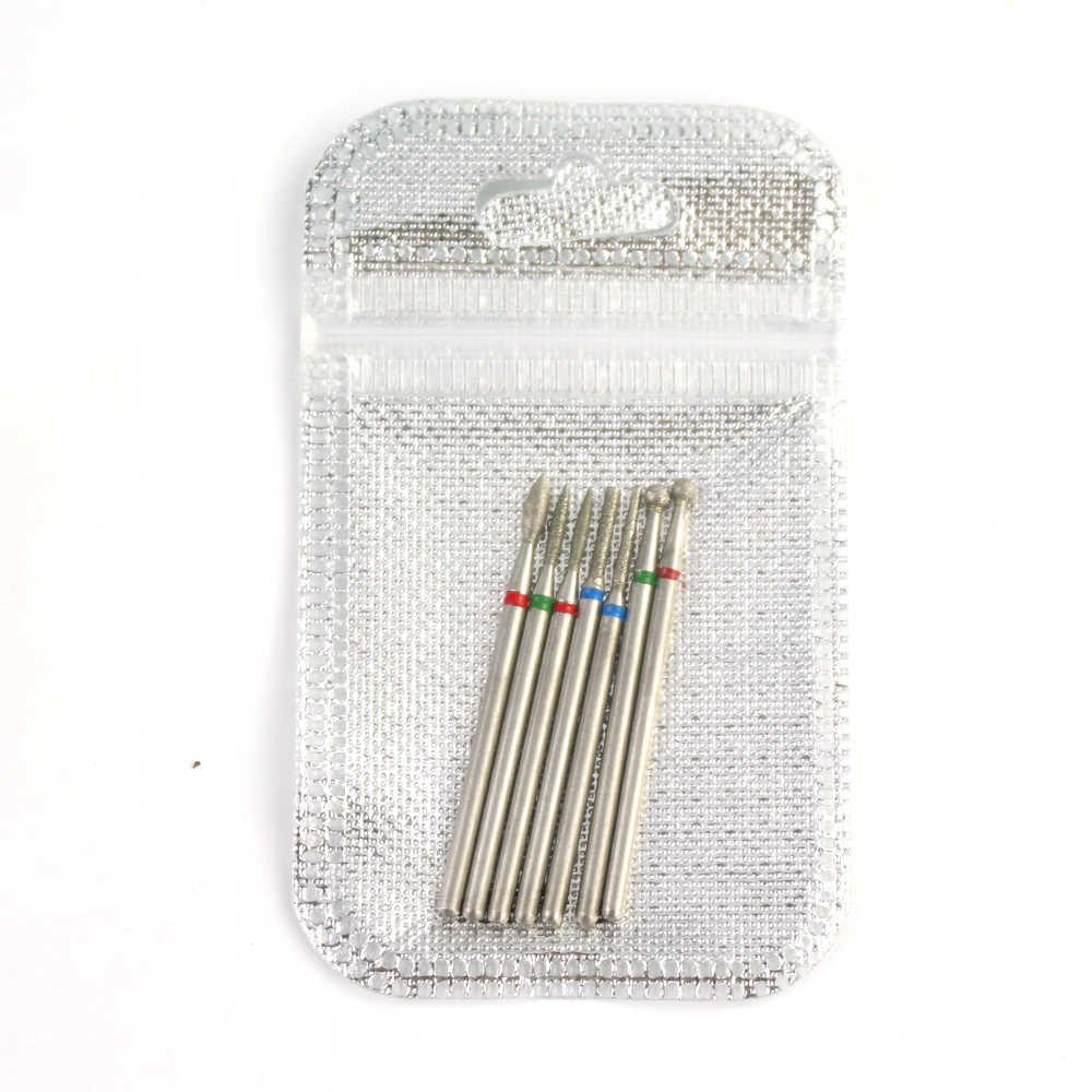 7 Pcs/set Diamond Mata Bor Rotery Listrik Pemotong Penggilingan untuk Pedikur Manikur File Kutikula Burr Kuku Alat Aksesoris