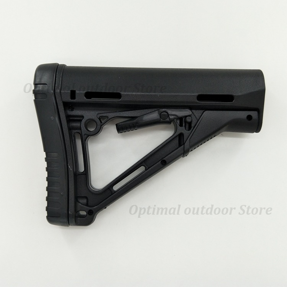 TOtrait Tactical Gun Rifle CTR Stock Rear Carbine Fixed Stock For M4 Water Bullet Airgun Equipment Butt Hunting Accessory Black