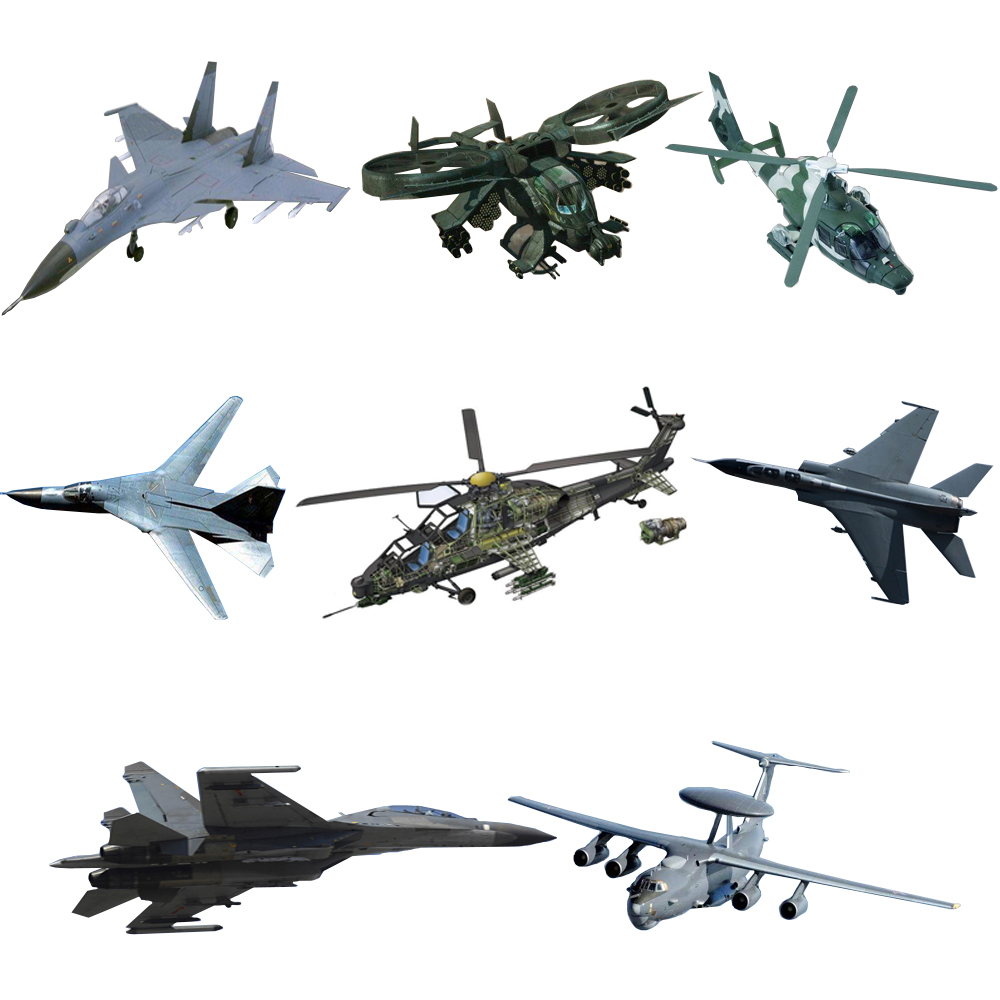 1pcs Mini Aircraft Model Building Assembling JH-7 JK-2000 Z-10 SU-33 SU-47 J-11 Z-9 Rdagunship Famous Airplane Model Collection