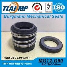 MG12 50 ، MG12/50 G60 Burgmann الميكانيكية الأختام لمضخات المياه مع G60 ثابتة مقعد (المواد: SIC/SIC/VIT ، SIC/SIC/EPDM)
