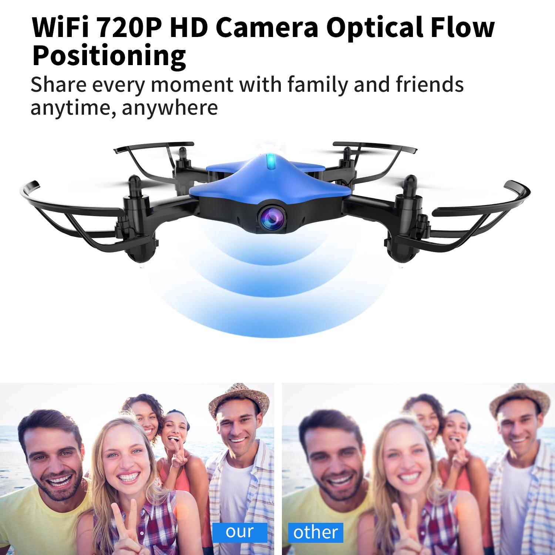 KY101 2,4G RC HD Kamera Drohne W-Lan FPV Headless Modus Quadrocopter Höhe Halten