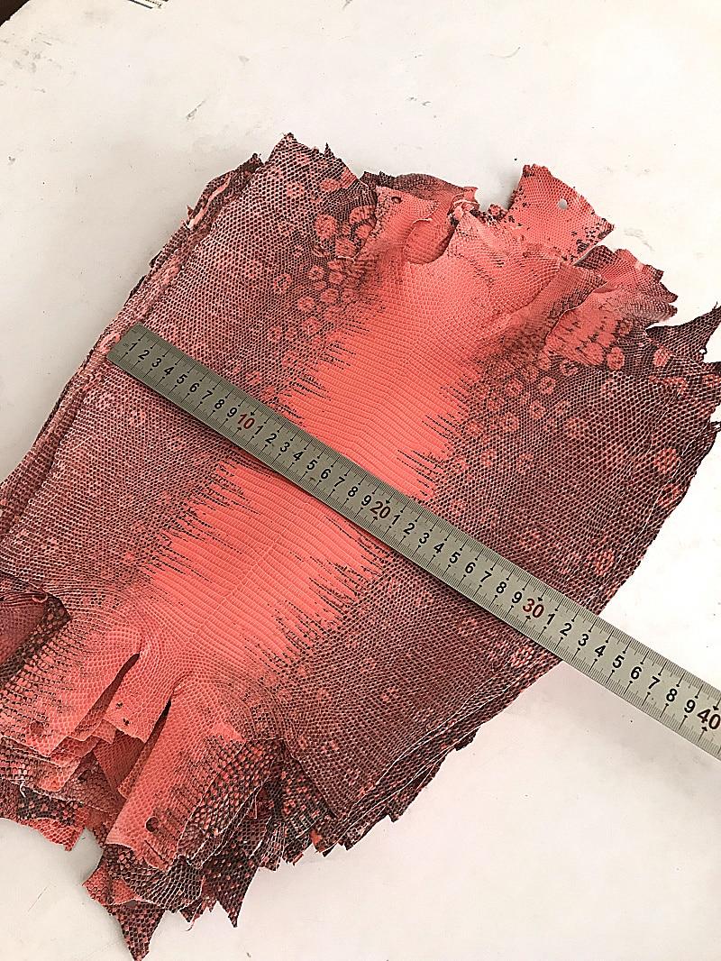 big size whole piece Pink Original Flower Lizard Leather genuine leather craft Lizard skin