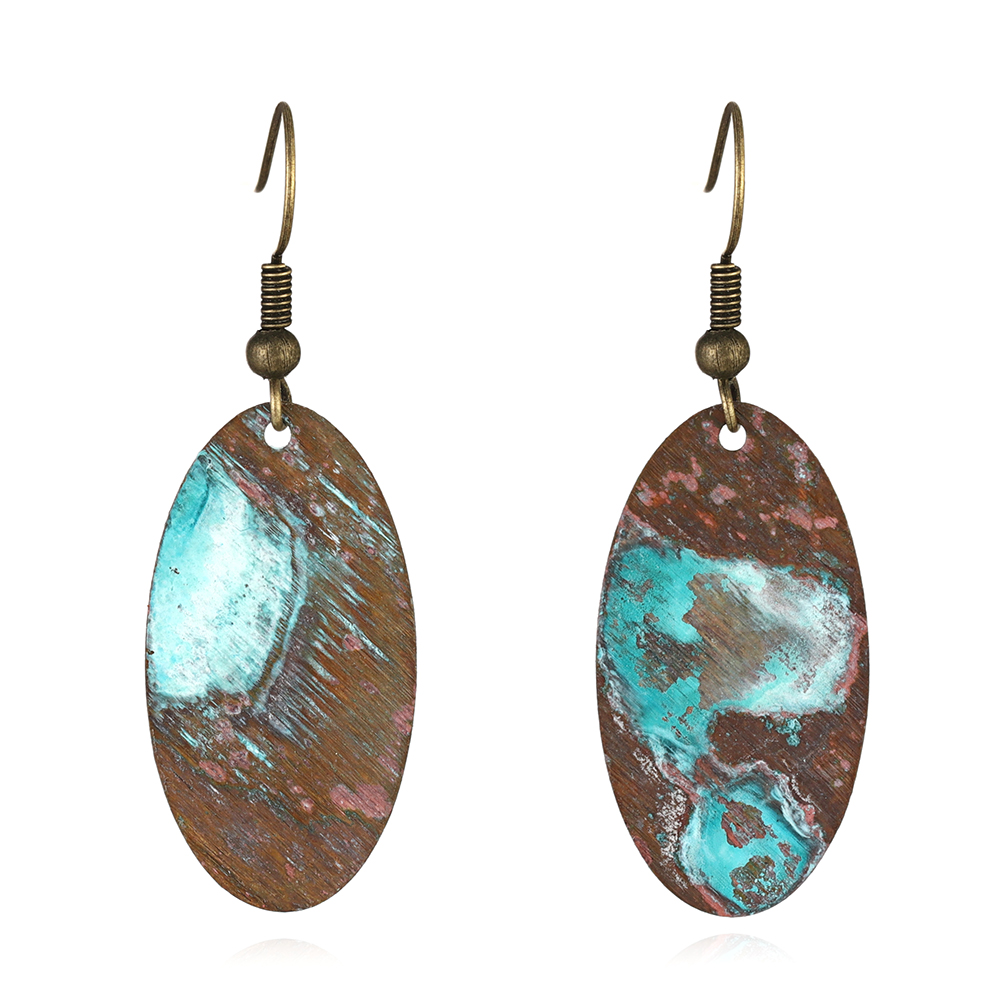 New Trendy patina pattern earring