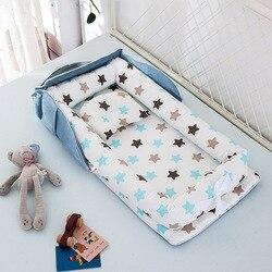 85x45cm cama de nido de bebé portátil con almohada cama de viaje de bebé cuna de algodón infantil cuna de bebé recién nacido cama parachoques bebé Bebe