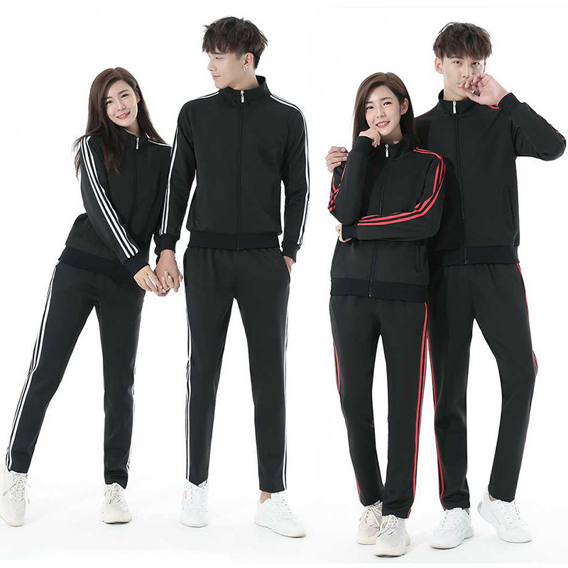 Spring And Autumn New Style Men And Women Couples Casual Sports Running Fitness Suit Group Clothes Activity Sports Take Business