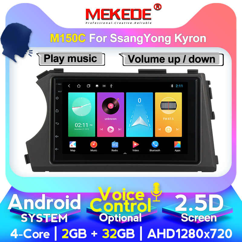 MEKEDE 2din HD 1024X600 Quad Core 4 Android 10 2G RAM Mobil DVD untuk Ssang Yong SsangYong Kyron Actyon 2005-2013 GPS Radio Stereo