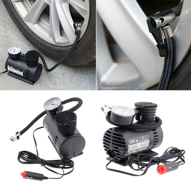 DC 12 V 300 PSI compresor de aire portátil bomba de neumáticos de inflador eléctrico de coche para bicicletas de motocicleta coche eléctrico ATV camión, Etc.