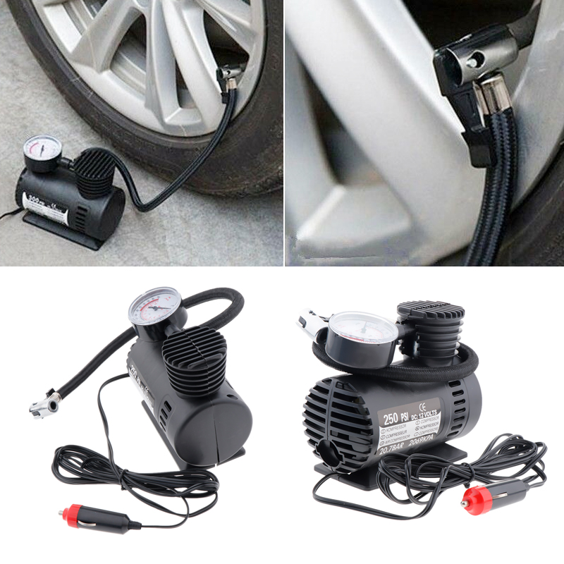 Image 3 - DC 12V 300 PSI Portable Air Compressor Car Electric Inflator Tyre Pump For Car Motorcycle Bicycles Electric Car ATV Truck Etc-in Inflatable Pump from Automobiles & Motorcycles