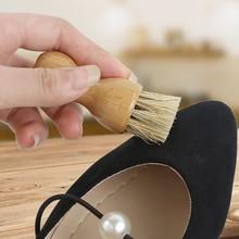 Drewniany uchwyt czyszczenie butów szczotka do butów polski pędzel do polerowania włosów pędzle do butów do czyszczenia butów śniegowce # SS tanie tanio Grzywa konia Drewna 1205 Włosia końskiego