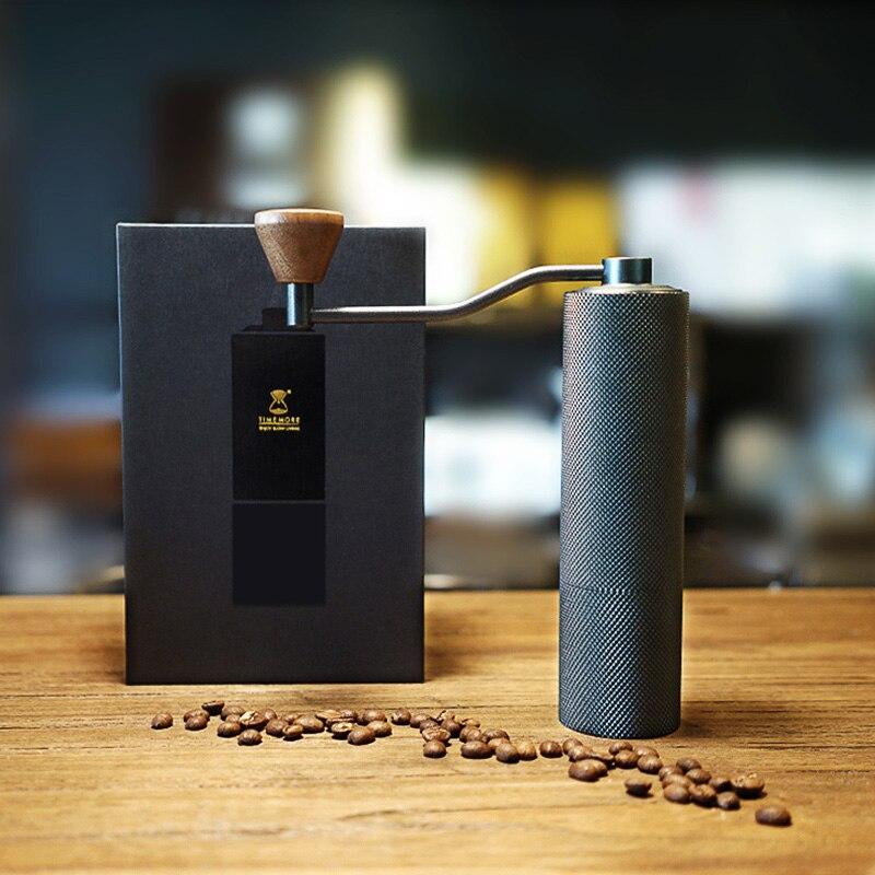 Timemore тонкая Высококачественная ручная кофемолка алюминиевая кофейная мельница 20 г Мини кофемолка