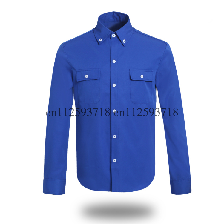 MJ Michael Jackson Blue Shirt The Way You Make Me Feel