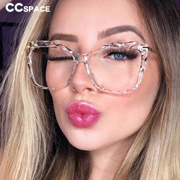 45940 TR90 Retro kryształ cięcia ramki okularów mężczyźni kobiety optyczne mody komputerowe tanie i dobre opinie CCspace Unisex Plastikowe tytanu Stałe