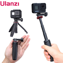 Ulanzi MT 09 Extendable Selfie Stick for Gopro Portable Vlog Selife Stick Tripod Stand for Gopro Hero 8/7/6/5 Black/Gopro Max