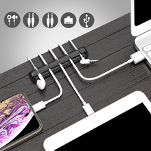 Silicone USB Cable Winder Desktop Flexible Cable Management Clip Multipurpose Clip Cable Holder for Mouse Headphone Cable