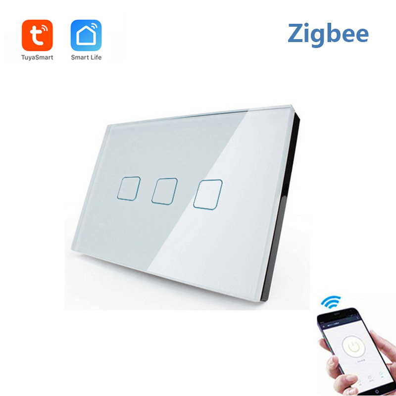 Tuya(Smart Life) Zigbee remote control Smart Switch touch Switch compatiable with Alexa and Google home for smart home