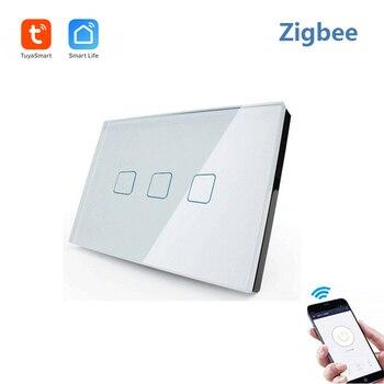 Tuya (vie intelligente) Zigbee télécommande commutateur intelligent commutateur tactile compatible avec Alexa et Google home pour la maison intelligente