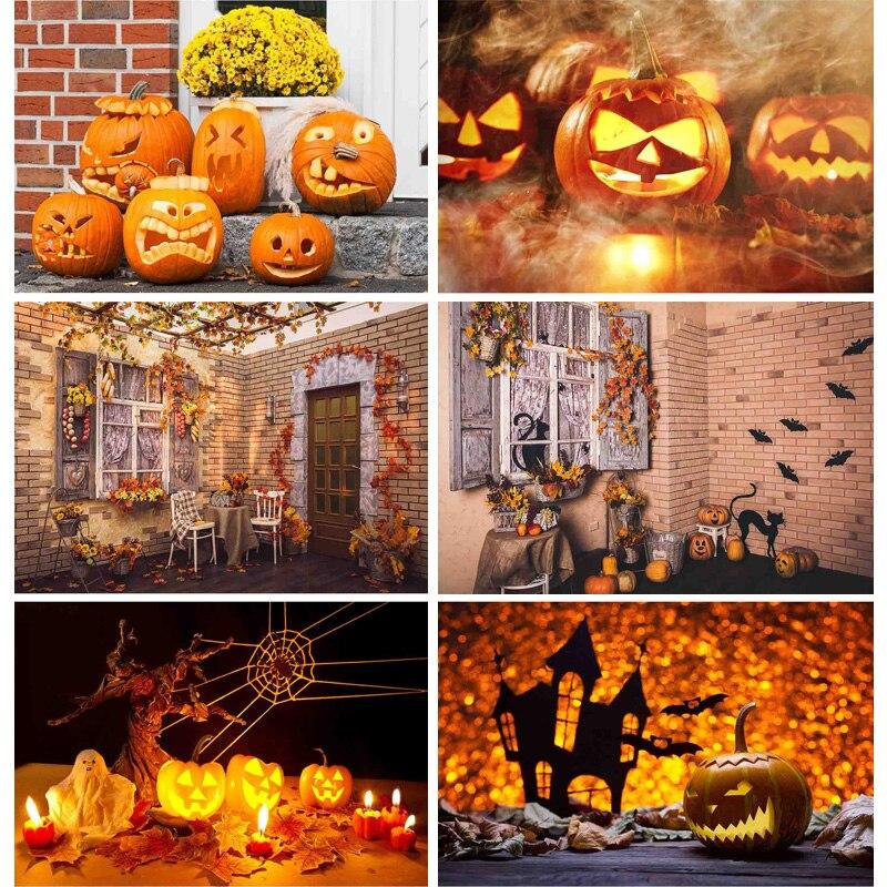 Купить shengyongbao хэллоуин фотографии фоны замок ворота призрак тыква
