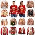 2019 feio camisola de natal para o presente santa engraçado pulôver das mulheres dos homens 3d impressão camisolas topos outono inverno engraçado hoodie vestuário