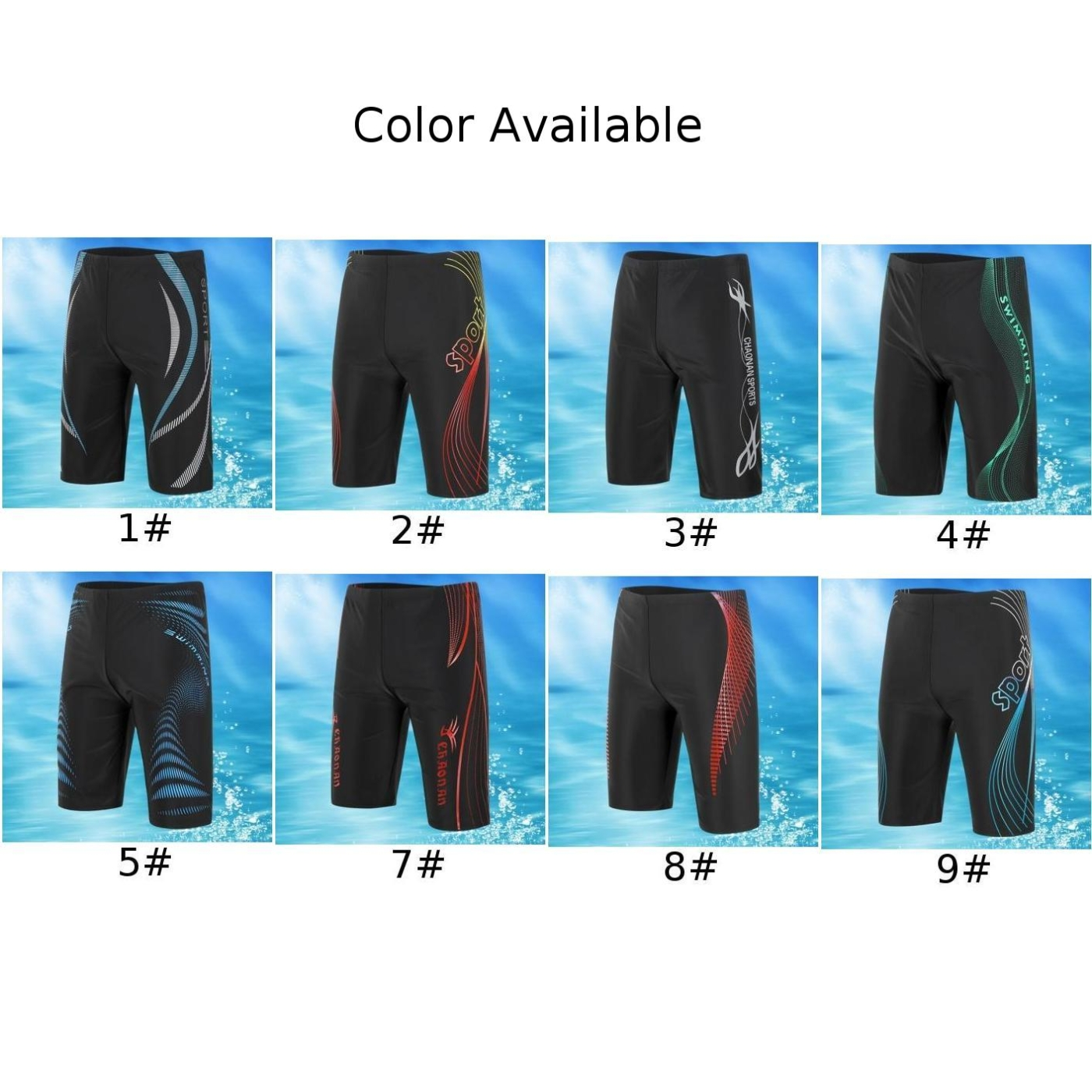 Man Sport Jammers Swim Boxer Trunks Shorts Beach Pants Swimming Quick-dry Shorts Sexy Mesh Breathable Sports Beach Trunks Hot 6