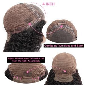 Image 4 - קינקי מתולתל פאות לנשים מלזי תחרה פאות 150% צפיפות שיער טבעי פאות 13X4 ISEE שיער קינקי קרלי תחרה קדמי שיער טבעי פאות