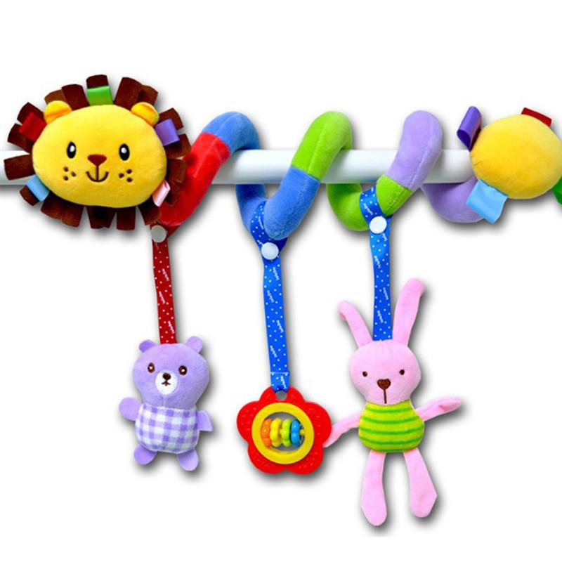 New Fashion Baby Kids Infant Crib Toys Wrap Around Crib Rail Cute Toy Stroller Toy Cute Baby Educational Plush Toys (Bucks)
