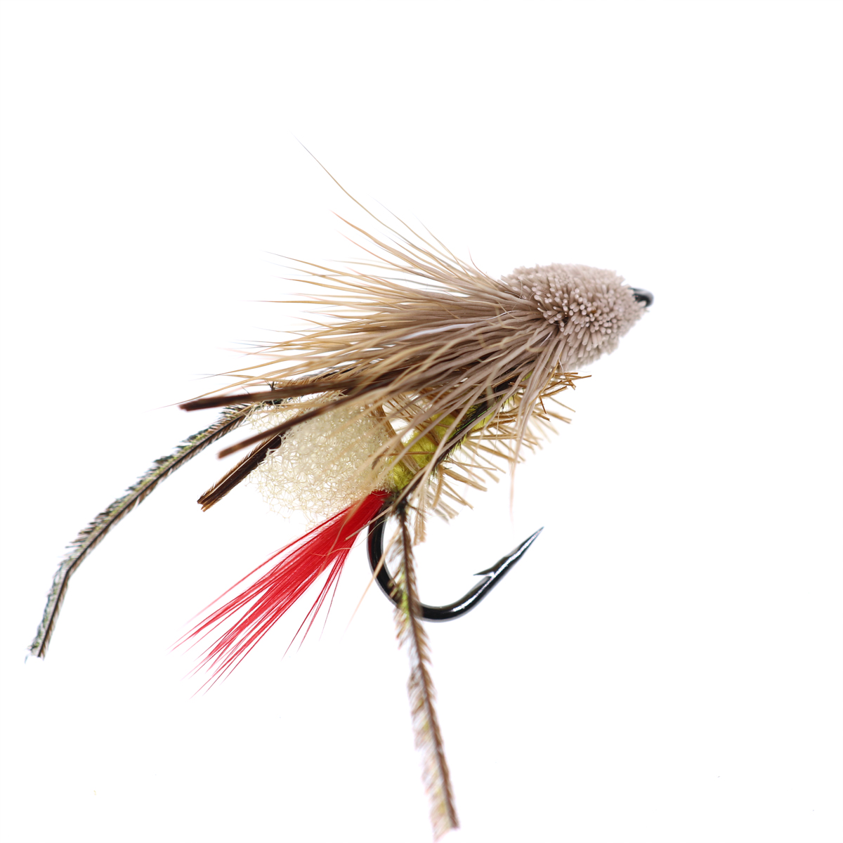 5PCS #10 Trout Fishing Fly Grass Hopper Fly terrestrial Hopper Fly Floating Bass Crappie Bug Bait Artificial Lure 17