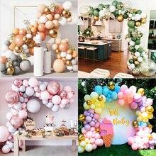169 pcs Balloons Garland Chain Wreath Metallic Confetti Balloon DIY Wedding Backdrop Arch Baby Shower Birthday Party Decoration