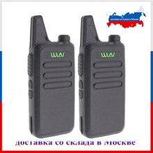 2 pces wln KD-C1 walkie talkie uhf 400-470 mhz 16 canais mini-handheld transceptor ham rádio estação wln rádio communciator