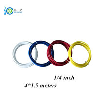 цена на Free Shipping 1/4 inch 5 Meter/ roll white blue yellow and red color food grade water tube PE Pipe water pipe water filter pipe
