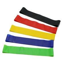 5 Color resistencia bandas elásticas para Fitness chicle Mini Loop Band Yoga Pilates deporte entrenamiento Crossfit bandas elásticas de equipos de Fitness