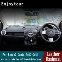 Voor Mazda 2 Demio 2007 2008 2009 2011 2013 2012 Lederen Dashmat Dashboard Cover Pad Dash Mat Tapijt Auto Styling accessoires RHD