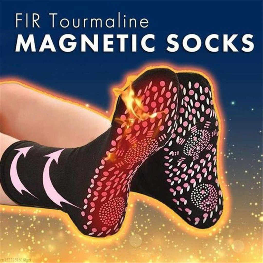 Tourmaline Magnetic ถุงเท้าสุขภาพ Self-Heating Care ถุงเท้า Therapy สบายและ Breathable Massager ฤดูหนาว Warm Foot Care ถุงเท้า