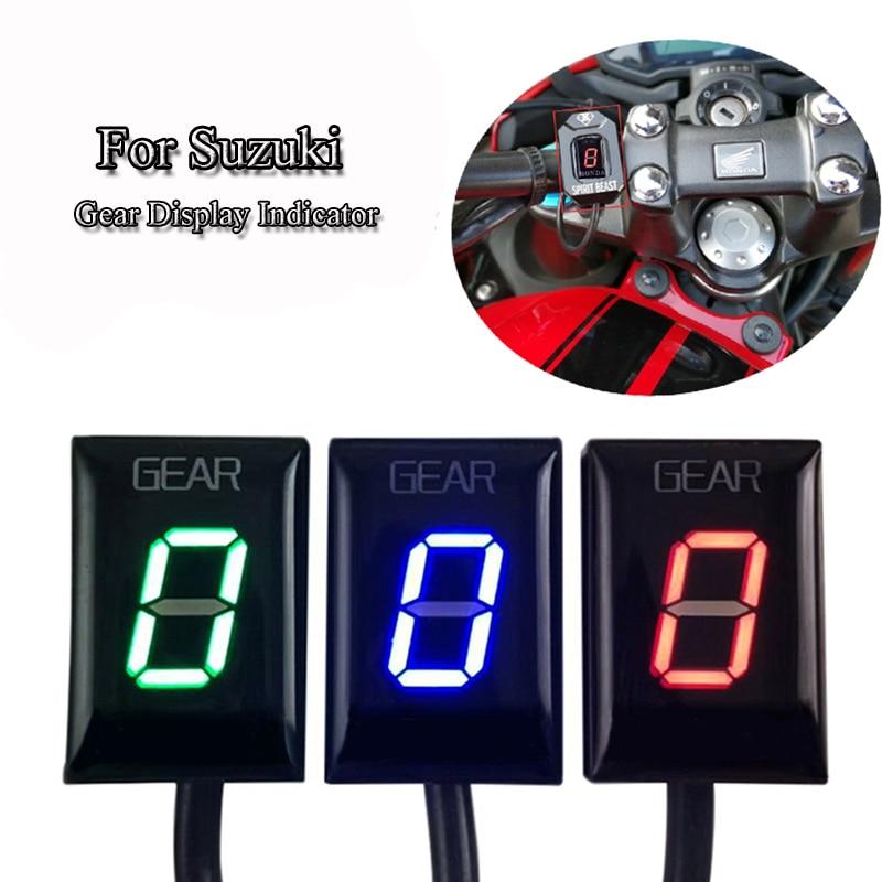 GSXR 600 750 1000 GSX650F SV650 C50 Motorcycle Digital Gear Indicator Ecu Plug Mount LED Gear Display Indicator 6 level Speed