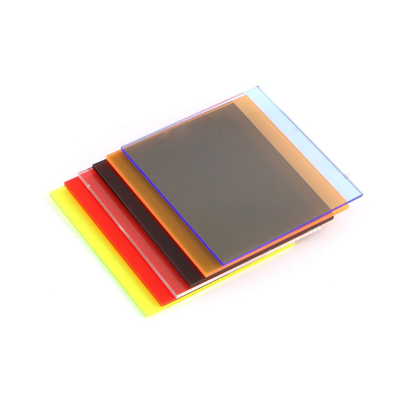 Plexiglass Board Colored Acrylic Sheet 8*8cm DIY Toy Accessories Model Making F1FC