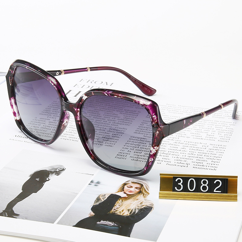 Shades for Women Luxury Designer TR90 Polarized Sunglasses Woman Driving Square Frame <font><b>3082</b></font> image