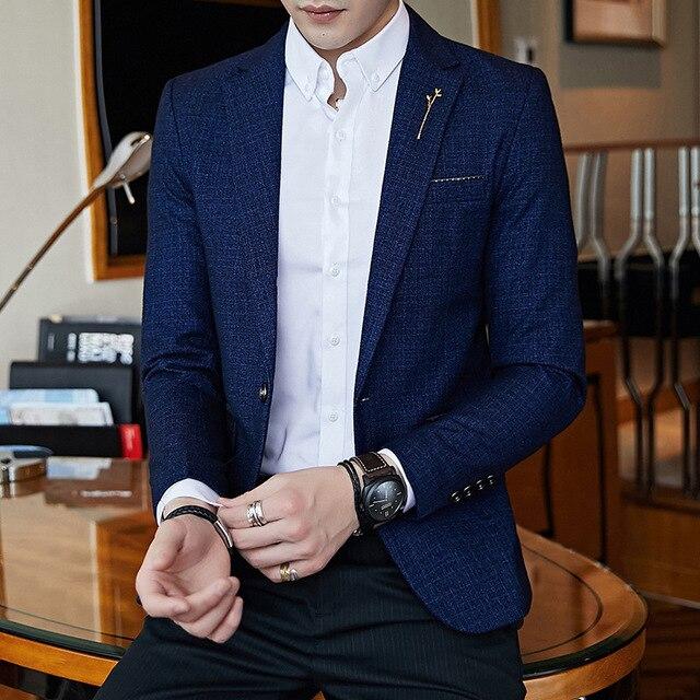 New Fashion Autumn Men Suit High Quality Mens Suit Jacket Business Casual Suit Slim Fit Terno Masculino Blazer M-5XL