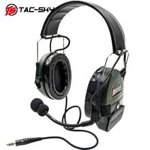 TAC-SKY  COMTAC I Peltor Softair Silicone earmuff version Noise reduction pickup tactical headset -FG