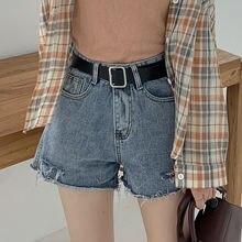 Модные повседневные шорты в стиле ретро с потертостями и дырками