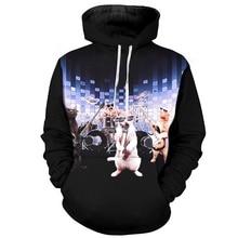 Cloudstyle Funny Hoodies Men 3D Full Printed Funny Cat Rock Band Long Sleeves Sweatshirts Hooded Pullovers Hoodies Streetwear цена 2017