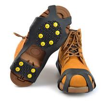 Antypoślizgowe kolce do butów Crampon antypoślizgowe na buty śnieg piesze wycieczki antypoślizgowe Camping Walking Grip wspinaczka ice Crampon Ice Drifts tanie tanio MUQGEW CN (pochodzenie) Crampons